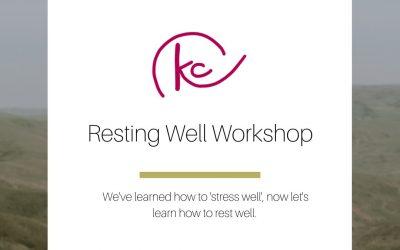 Resting Well Workshop